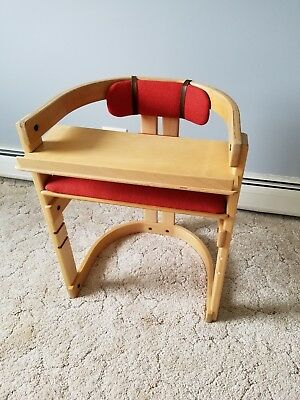 Westnofa Adjustable Chair Wood Children kids play Norway Mid-century Modern MCM