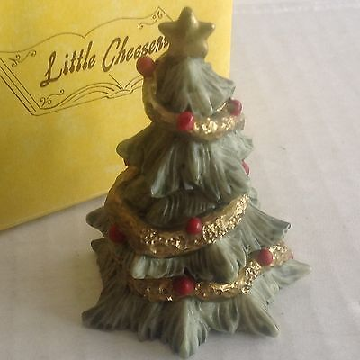 """Ganz Little Cheesers """"Christmas Tree"""" figurines 1991 # 05330 New in Box"""