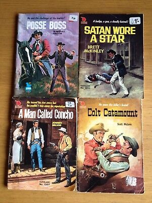 Western Cowboy (Pulp) Books Job Lot 4 Number See Photos  Marshall Grover Etc