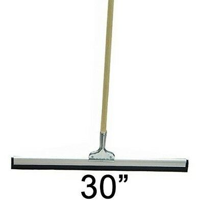 "30"" Floor Squeegee Straight Wood Handle Scratch Resistant Squeegee"