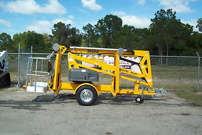 3522A 43' Towable Boom Lift, 20' Outreach, Haulotte, Formerly Known As Bil-Jax