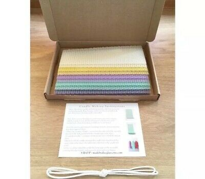 Beeswax Candle Making Kit, 10 Beeswax sheets, Instruction, Wick Coloured Wax