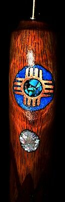 "New Mexico Handmade""Organ Mountains""Cane in Oak, Inlaid top to bottom!!!"