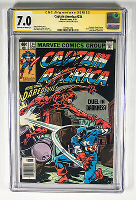 Captain America 234 CGC 7.0 signed by Stan Lee Daredevil Grand Director