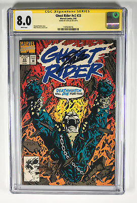 Ghost Rider v2 23 CGC 8.0 signed by Stan Lee Mark Texiera Cover & Art