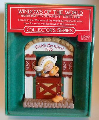 "1986 Hallmark Keepsake Ornament "" Windows of the World - Holland"""