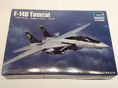 Trumpeter 03919 Grumman F-14D Tomcat US Navy Air Force Jet Fighter 1:144 WWII
