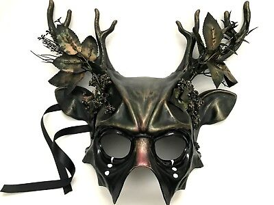 Woodland Forest Medusa Masquerade Antler Mask costume Halloween party Wall Deco