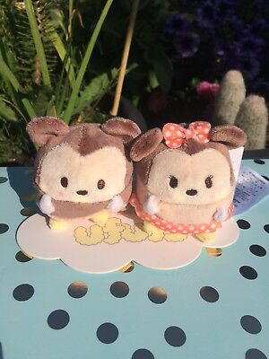BNWT Disney Mini Ufufy Plushes - Minnie And Mickey Mouse BRAND NEW