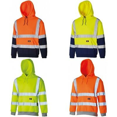 Hi Vis Visibility Sweatshirt For Safety Security Work Wear Jumper Top Two Tone