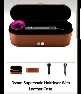 DYSON Supersonic Hair Dryer - Iron & Fuchsia with leather case