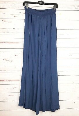 Just For Fun By Jams World Navy Blue Women's Palazzo Pants Size Large *flawed
