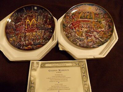 2 McDonalds Porcelain Collector Plates by Franklin Mint,limited andnumbered