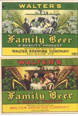 2 Different Walter's Family Beer IRTP Labels