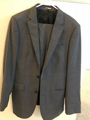 Express Suit Jacket With Pants.  Mens Size 38L. Pants 32x30 Free Express Tie!