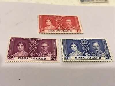 Basutoland 1937 coronation      unused   (6052)
