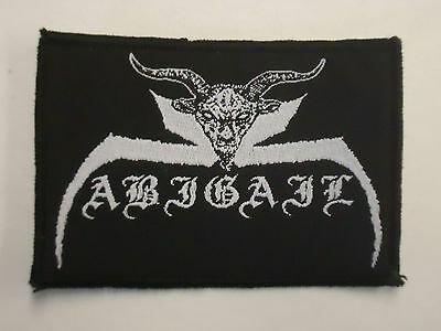 Abigail Black/Thrash Metal Woven Patch