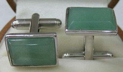 Vintage Men's Shell Agate Jade Cufflinks Jewelry Wedding Party Cuff Links Gifts