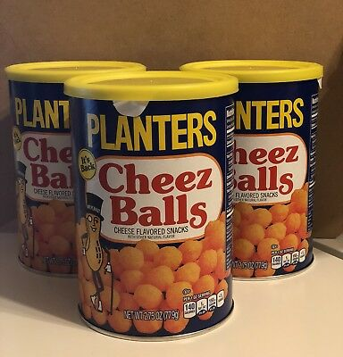 Planters Cheez Balls 2.75oz Can, THREE cans, in hand, READY TO SHIP