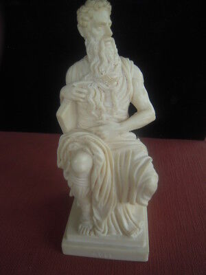 Alabaster Marble Statue of Moses Unsigned