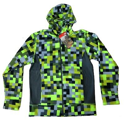 The North Face Boy's Youth Glacier Full Zip Hoodie Gray Yellow Size Large 14/16