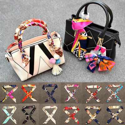 Beauty Ladies' Stylish Scarves Twilly Ribbon Bag Tied Handle Small Ribbon Scarf
