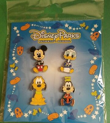 Disney Pins Booster Pack Mickey Goofy Pluto Donald Very Cute FREE SHIP
