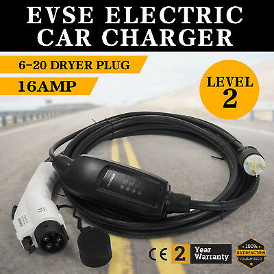 Electric Car Charger 6-20 Plug Level 2 Charger 16A Control Box 220V-240V EVSE