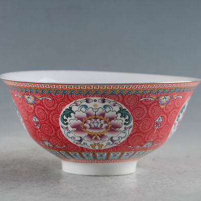 Exquisite Chinese Famille Rose Porcelain Handmade Flowers Bowls