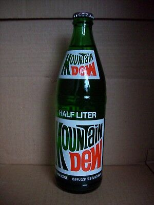 Mountain Dew Full Half Liter Return Glass Soda Bottle - Full