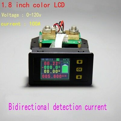 120V 100A Battery Monitor Meter DC VOLT AMP temperature Capacity power coulomb