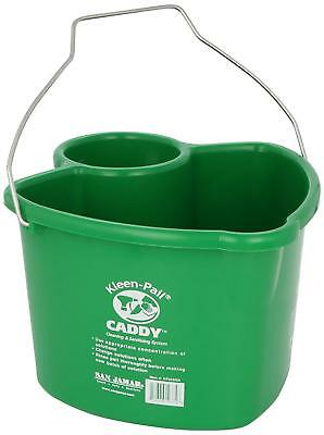 San Jamar KP550GN Kleen-Pail Commercial Cleaning Caddy Only, Green