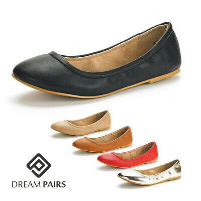 DREAM PAIRS Women's Classic Ballerina Shoes Ladies Casual Slip On Flat Shoes