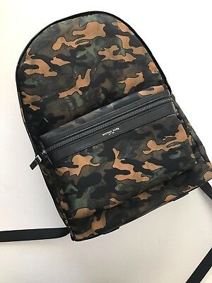 272a1ce729f3 Michael Kors Mens Kent Army Camouflage Nylon Backpack Laptop Tablet Bag NWT