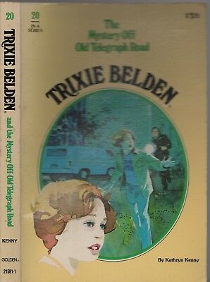 Vintage 1978 TRIXIE BELDEN THE MYSTERY OFF OLD TELEGRAPH ROAD #20 KATHRYN KENNY