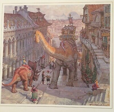 """STEEP STREET"" by JAMES GURNEY - Signed, Limited Edition Art DINOTOPIA DINOSAURS"