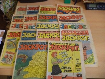 LOT OF 18 OLD VINTAGE jackpot BRITISH humour COMIC MAGAZINE 1980S 1981 - 1982