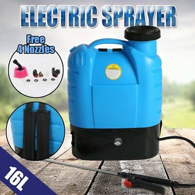 16L Electric Weed Sprayer Spray Rechargeable Backpack Garden Farm Pump 12V NEW