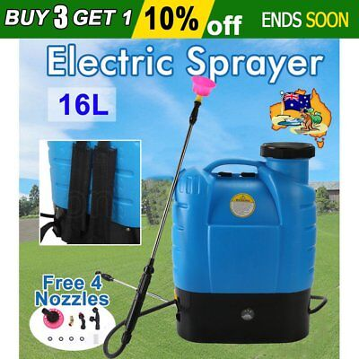 16L Electric Weed Sprayer Spray Rechargeable Backpack Farm Garden Pump 12V NSW