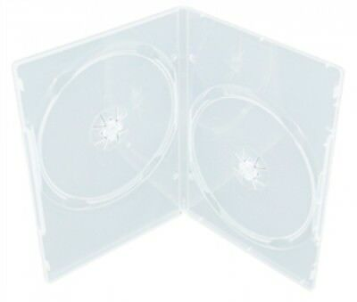 100 SLIM Clear Double DVD Cases 9MM