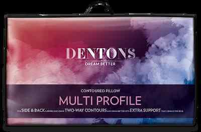 Dentons Multi Profile Chiropractic Pillow - Two Way Contour Back & Side Sleep