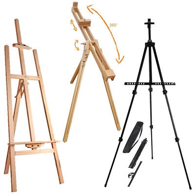 Artist Art & Craft Display Studio Easel Pine Wood Wooden Metal Painting Easels