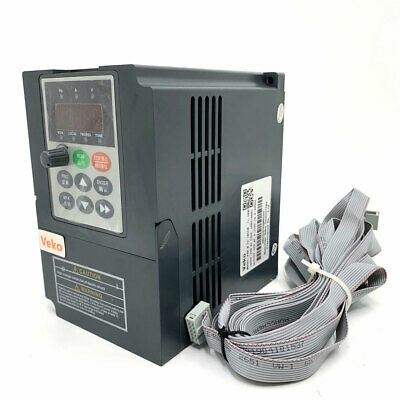 1-7.5HP Variable Frequency Drive VFD Inverter CNC Motor 0.75-5.5KW 220V +Cable