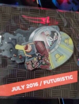 2018 Sdcc Loot Crate Dx Futuristic Rick And Morty Pin Unopened Le S/o