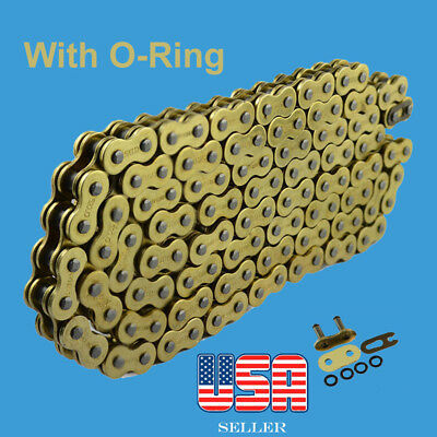 525x120 Gold O-Ring Drive Chain Motorcycle 525 Pitch 120 Links fit Honda Shadow