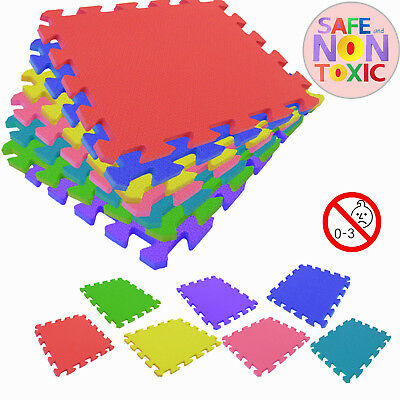 30*30cm Interlocking Soft EVA Foam Mat Tiles Kids Play Carpet Home Floor UK