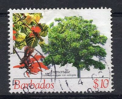 BARBADOS = 2005 Flowering Trees, $10 Immortelle. SG1280. Fine Used.