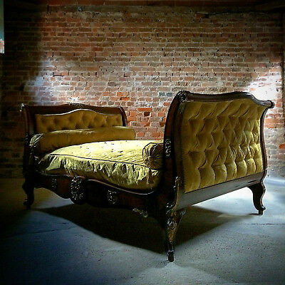 Antique Daybed Bed Lit en Bateau French Louis XV Style 19th Century Circa 1815
