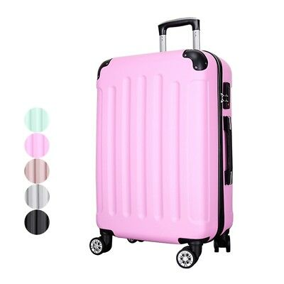 """Fashion Travel Luggage ABS Trolley Case 4-Wheel Carry-on Lock Suitcase 20/22/24"""""""