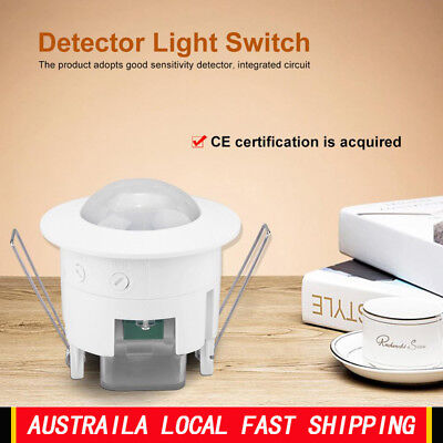 110-240V AC PIR Motion Sensor Detector Infrared Home 360° Light Control Switch